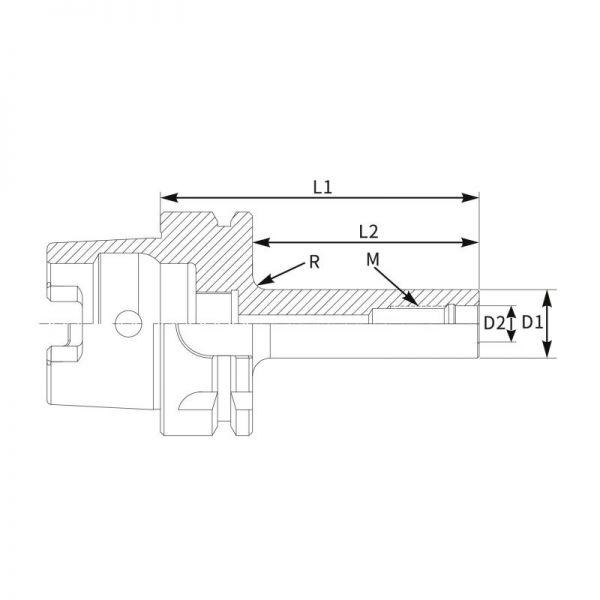 Cone Modular Roscado HSK-A Direito-2