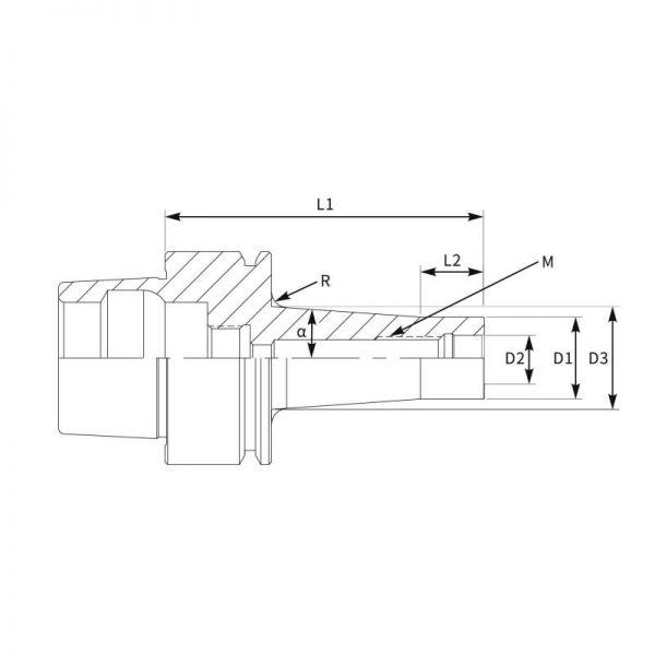 Cone Modular Roscado HSK-A_2