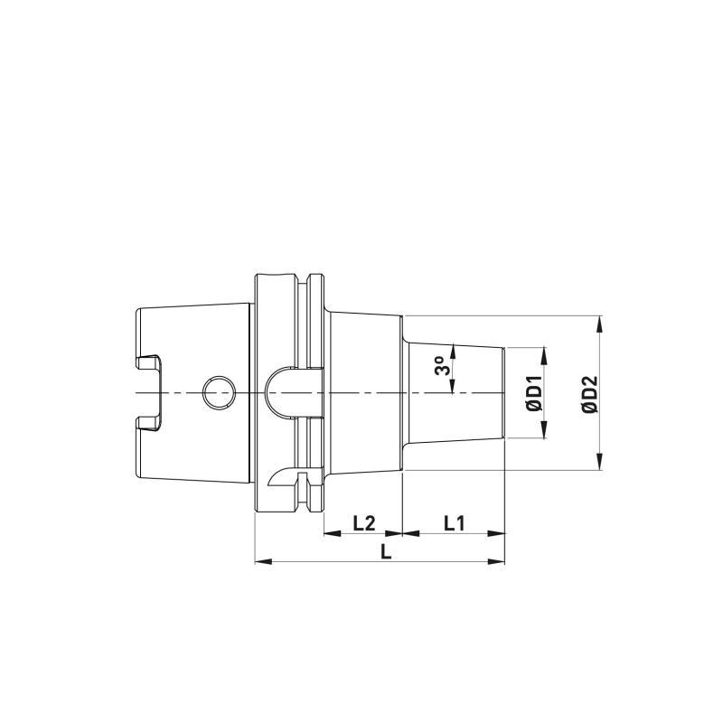 Cone Térmico modular HSK-A_2